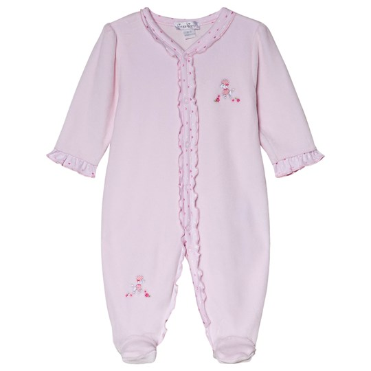 Kissy Kissy Pink Parisian Stroll Embroidered Poodle Footed Baby Body PINK PARISIAN STROLL
