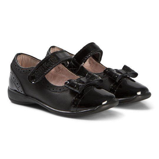 Lelli Kelly Black Patent Brogue Gabriella Shoes PATENT/SMOOTH