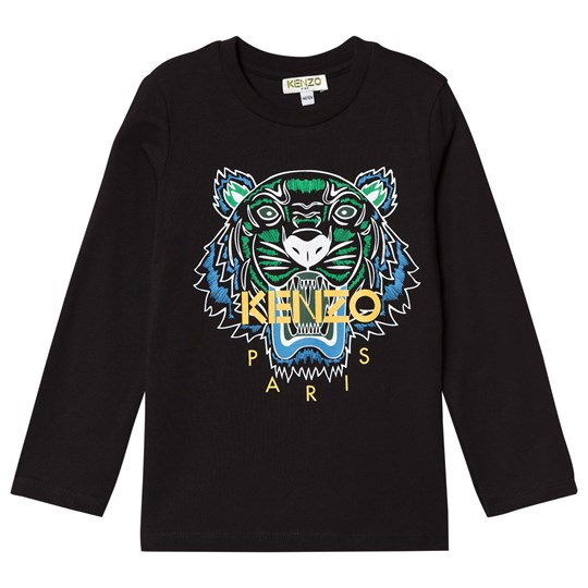 Kenzo Black Tiger Print Long Sleeve Tee 29