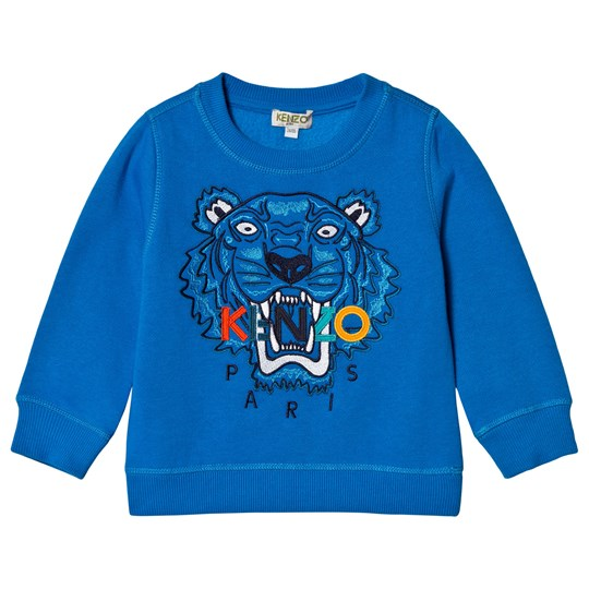 Kenzo Blue and Multi Colour Tiger Embroidered Sweatshirt 45