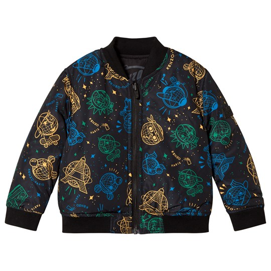 Kenzo Black Cosmic Reversible Bomber Jacket 29