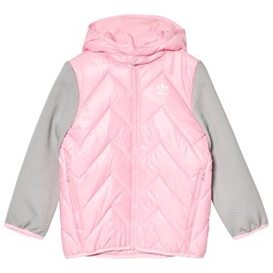 Image of adidas Originals Pink Small Logo Padded Jacket 6-9 months (74 cm) (1125351)