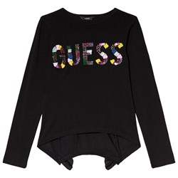 Guess Black Sequin and Beaded Tee