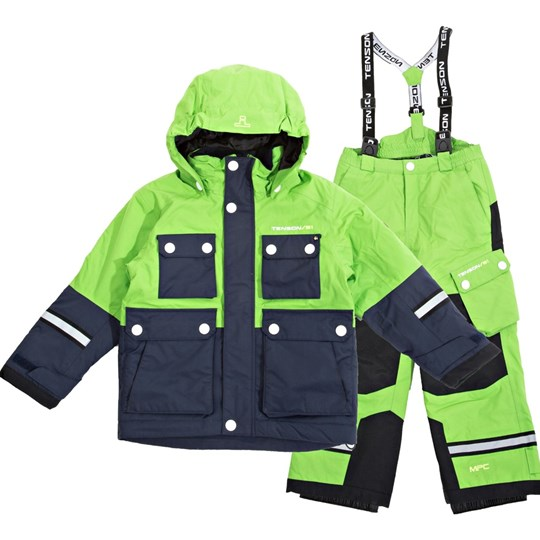 Tenson the Breezy Skiing Snow Pants and Winter Jacket Set Green Green