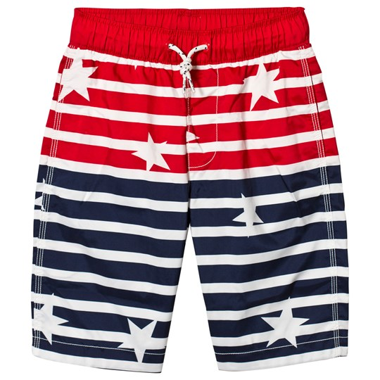 GAP Elysian Blue Stars and Stripes Swim Trunks ELYSIAN BLUE