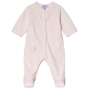 Image of Absorba Pale Pink Cloud Velour Footed Baby Body Newborn (3151387685)