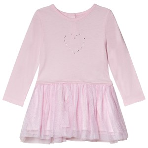 Image of Absorba Pale Pink Swarovski Crystal Heart Tulle Dress 12 months (3056071193)