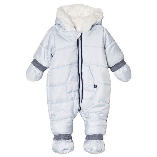 4302136dc Absorba - Pale Blue Hooded Snowsuit with Booties and Mittens ...