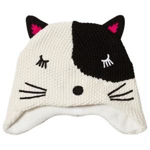 Image of Catimini Black and White Knit Cat Face Beanie 46cm (12-18 months) (3056083913)