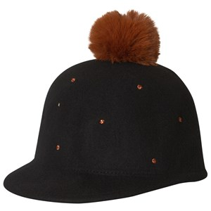Image of Catimini Black Felt Cap with Bronze Spots 56cm (12-14 years) (3056084087)