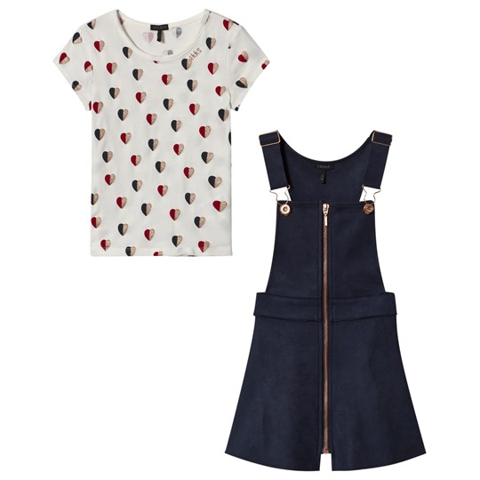 IKKS Navy Jumper and White Heart Print Tee Set 48