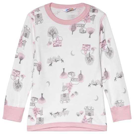 Joha Pink Winter Landscape Tee Winter Landscape Girl