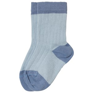 Image of Noa Noa Miniature Ankle Socks with Ribbed Designed Ballad Blue 9-12 år (3056078359)