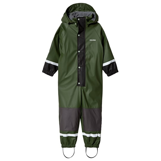 Kuling Outdoor Rain Coverall Fleece Douglas Forest Green Green
