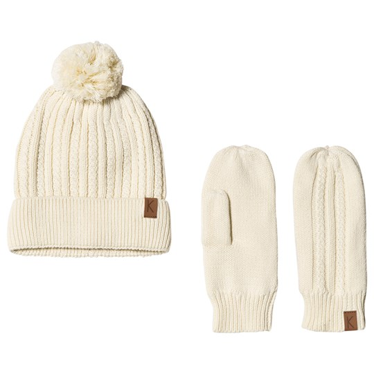 Kuling Off White Nakiska Beanie and Mittens Hvid