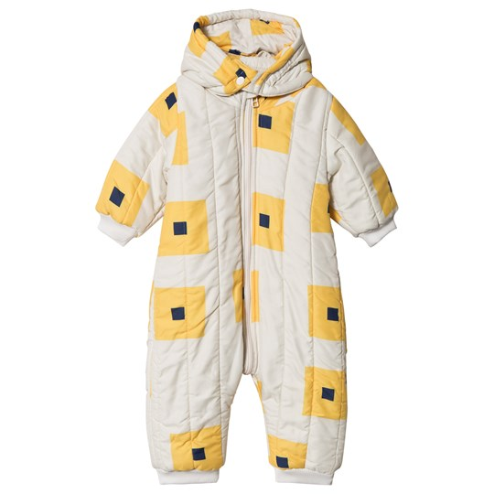 Bobo Choses Squares Padded Coverall Egret Egret