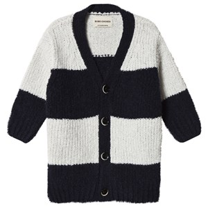 Image of Bobo Choses Big Stripes Cardigan Egret 2-3 år (1192998)