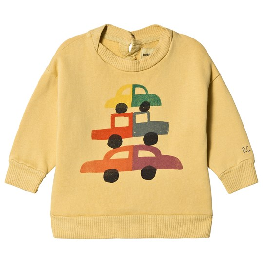 Bobo Choses Cars Round Neck Sweatshirt Dusky Citron Dusky Citron
