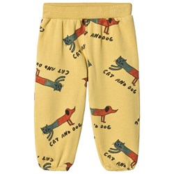 Bobo Choses Cats and Dogs Pants Dusky Citron