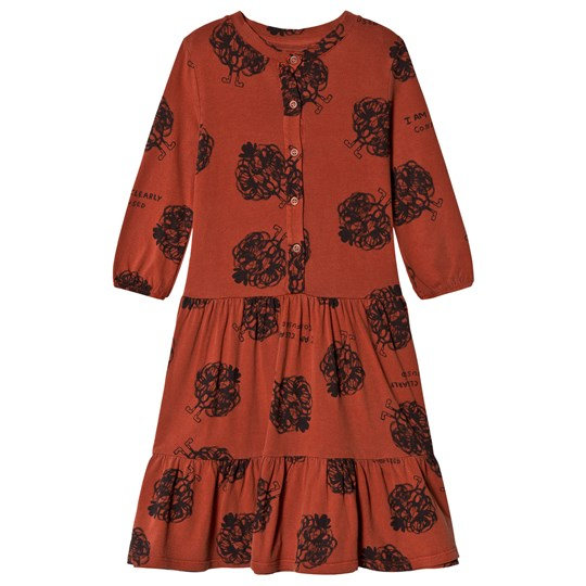 Bobo Choses Clearly Confused Buttons Dress Burnt Ochre Burnt Ochre