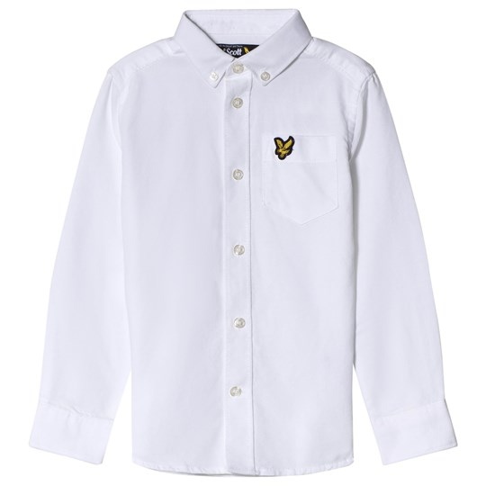 Lyle & Scott White Logo Oxford Shirt Color Description