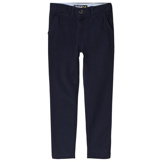 Lyle & Scott Navy Stretch Chino Color Description
