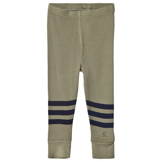 Bobo Choses Blue Stripe Leggings Deep Lichen Green Deep Lichen Green