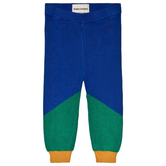 Bobo Choses Geometric Knitted Pants Turkish Sea Turkish Sea