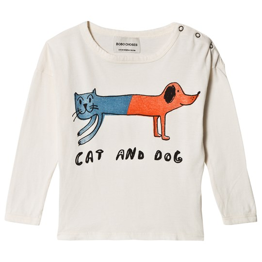 Bobo Choses Cat And Dog Round Neck T-Shirt Egret Egret