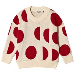 Bobo Choses Merino Moons Sweater Egret