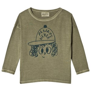 Image of Bobo Choses Always Never Round Neck T-Shirt Deep Lichen Green 2-3 år (3056108003)