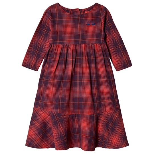 Bobo Choses Rainbow Flounce Dress Red Clay Red Clay