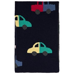 Bobo Choses Cars Knitted Blanket Medieval Blue