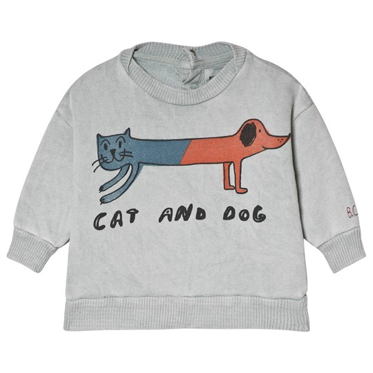 Bobo Choses Cat and Dog Round Neck Sweatshirt High-Rise HIGH-RISE