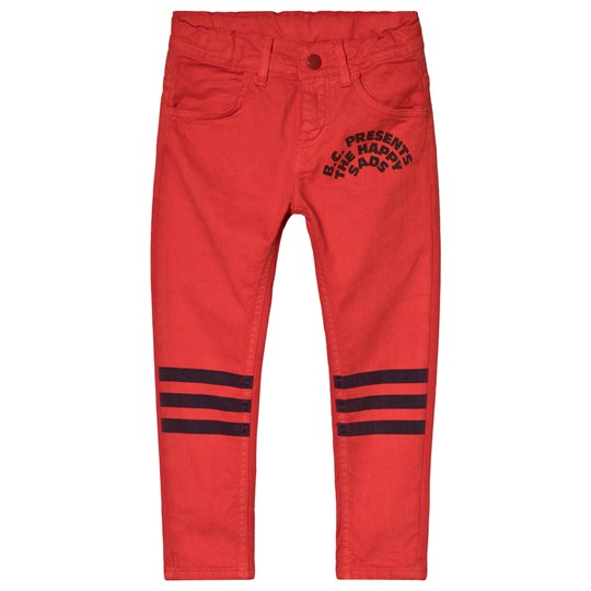 Bobo Choses Red Slim Fit Pants Red Clay Red Clay