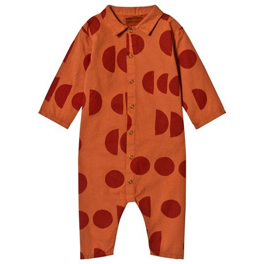 Bobo Choses Moons Buttons Jumpsuit Burnt Ochre Burnt Ochre