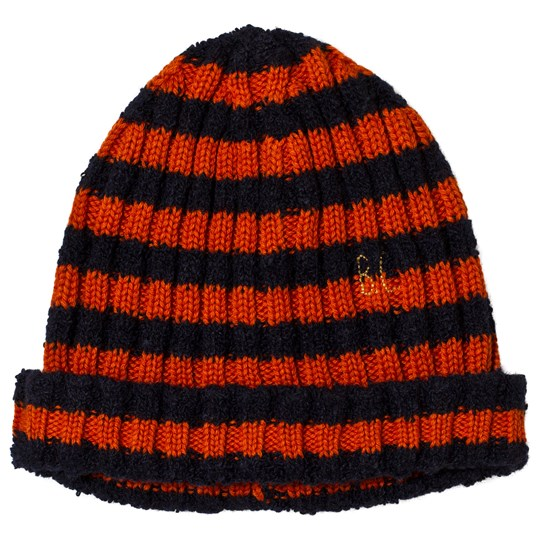 Bobo Choses Striped Beanie Medieval Blue Medieval Blue