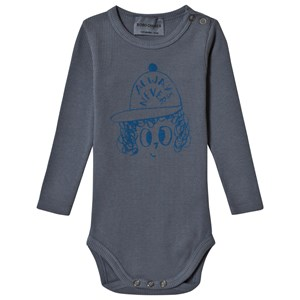 Image of Bobo Choses Always Never Long Sleeve Baby Body Dusty Blue 12-18 mdr (3056107979)