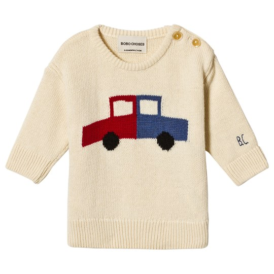 Bobo Choses Cars Sweater Egret Egret