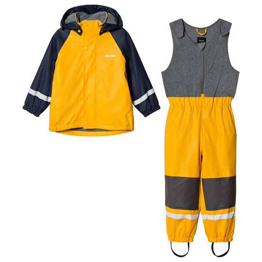 Kuling Ottawa Fleece Rain Set Happy Yellow Yellow