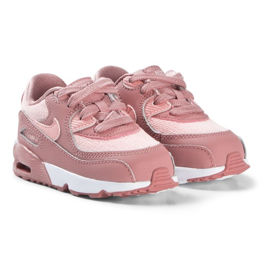 NIKE Pink Air Max 90 Mesh Infants Shoes 601