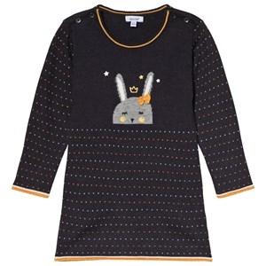 Image of Absorba Charcoal Bunny Intarsia Knit Dress 12 months (3056071205)
