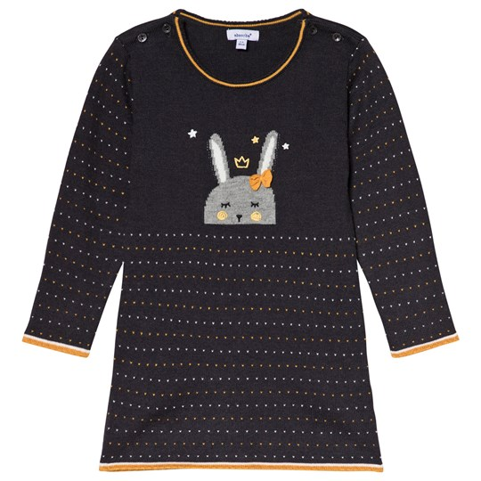 Absorba Charcoal Bunny Intarsia Knit Dress 29