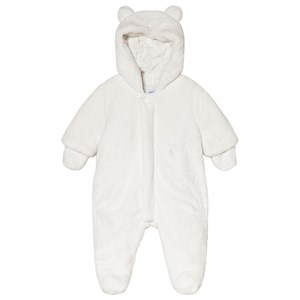 Image of Absorba White Faux Fur Hooded Coverall with Ears 1 month (3056071307)