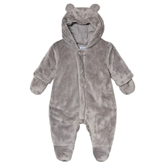 Absorba Grey Faux Fur Hooded Coverall with Ears 21