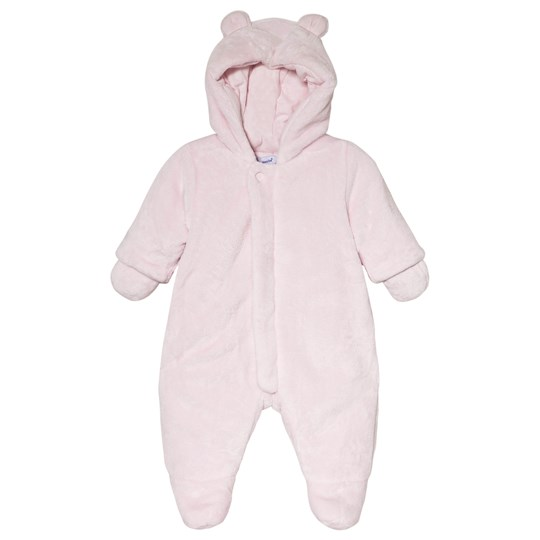 Absorba Pale Pink Faux Fur Hooded Coverall with Ears 30