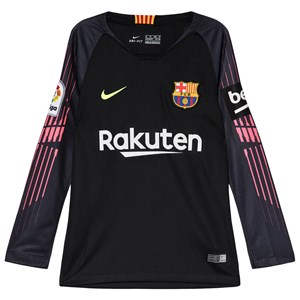 Image of Barcelona FC Black Breathe FC Barcelona Stadium Long-Sleeve Jersey L (12-13 years) (3056110441)
