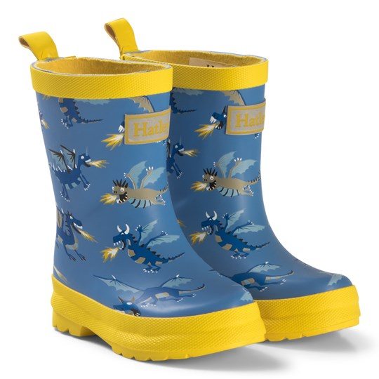 Hatley Blue Fire-Breathing Dragons Rain Boots Blue
