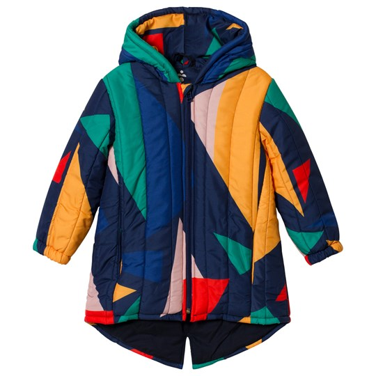 Bobo Choses Geometric Padded Jacket Medieval Blue Medieval Blue