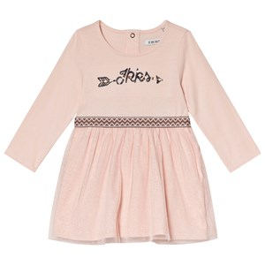 Image of IKKS Pale Pink Branded Glitter Tulle Dress 2 years (1163299)